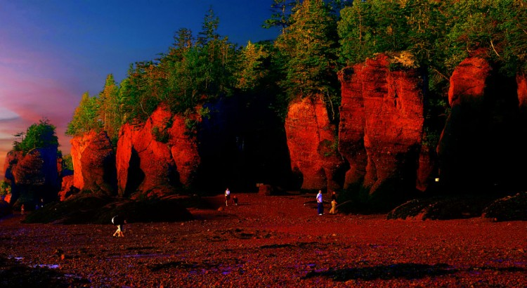 Walking the Ocean Floor at the Bay of Fundy, Canada