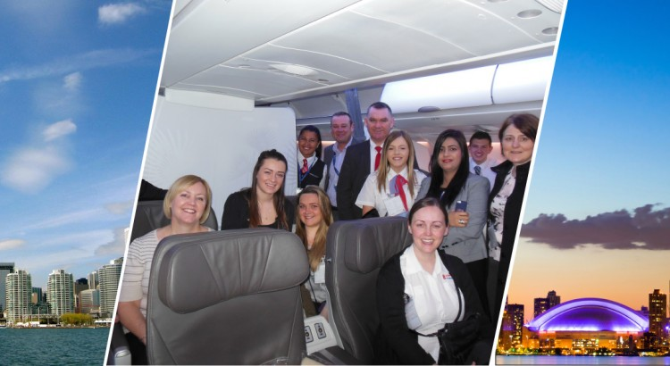 Onboard Air Transat with Barrhead Travel