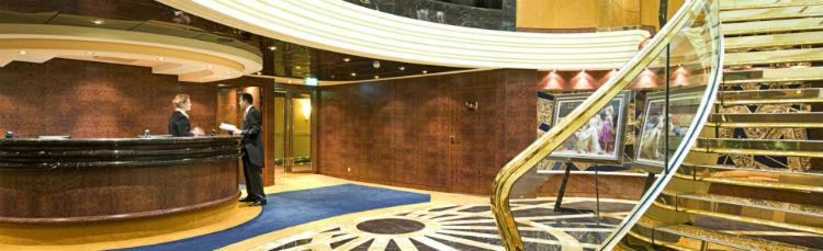 Foyer area MSC Fantasia cruise ship