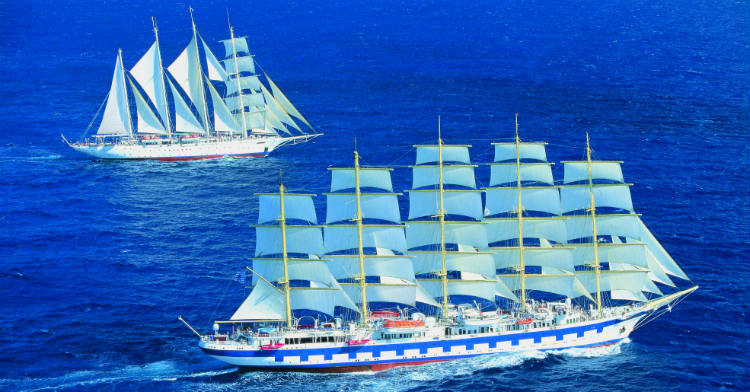 Two ships from Flying Clipper sailing at sea