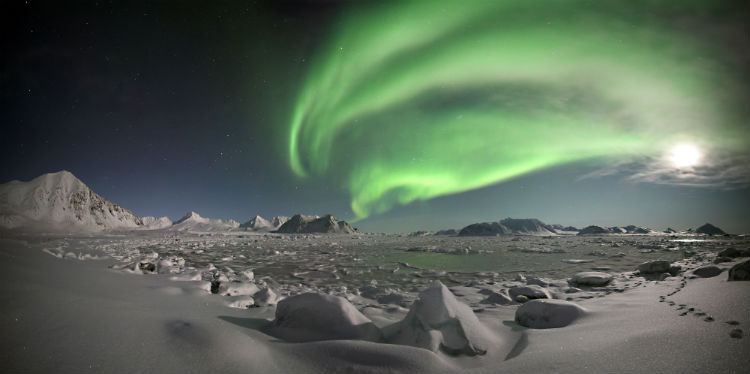 The northern lights over Arctic Norway