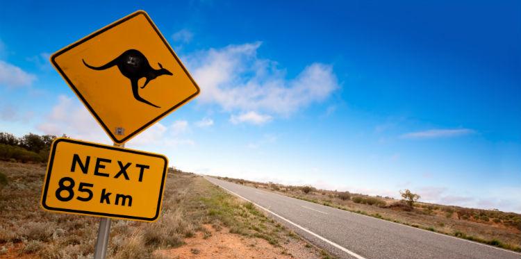 Australia touring routes