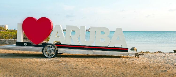 Since the I Love Aruba sign