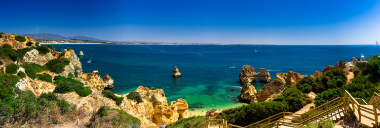 Panoramic view of the Algarve