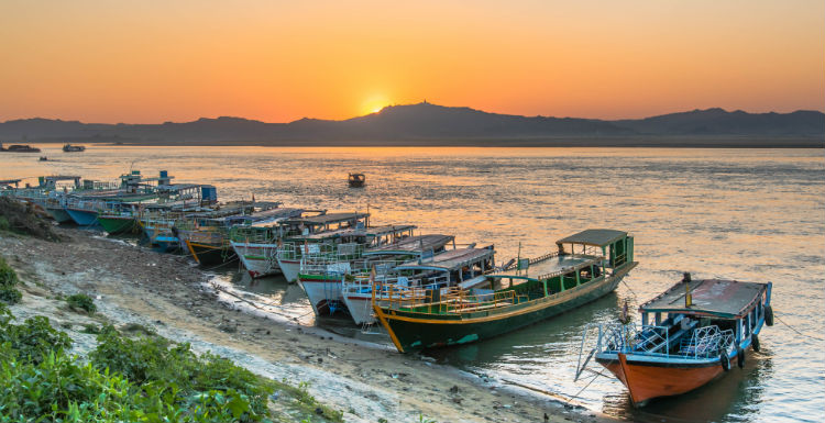 sunset at Irrawaddy