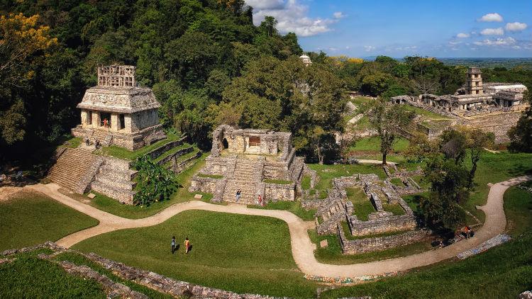 Mayan ruins in Palenque Chiapas Mexico