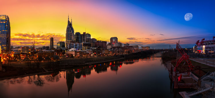 The skyline of Nashville