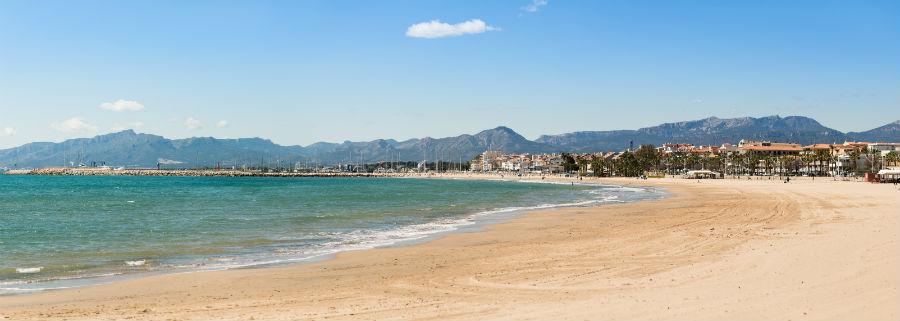 A beach in Costa Daurada