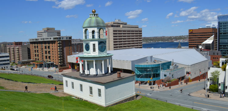 The town centre of Halifax in Nova Scotia