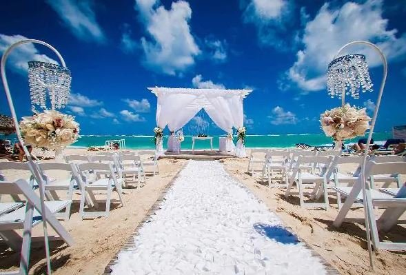 Wedding setup in Bahia Principe Esmeralda, Dominican Republic.JPG