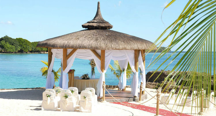 Wedding setup in Maritim Resort and Spa Mauritius