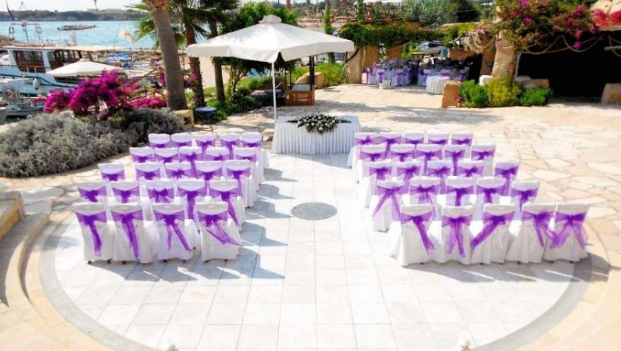 Wedding setup in Coral Beach Hotel Resort & Coral Beach Suites, Cyprus