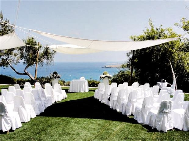 Wedding setup in Hotel Grecian Park, Cyprus