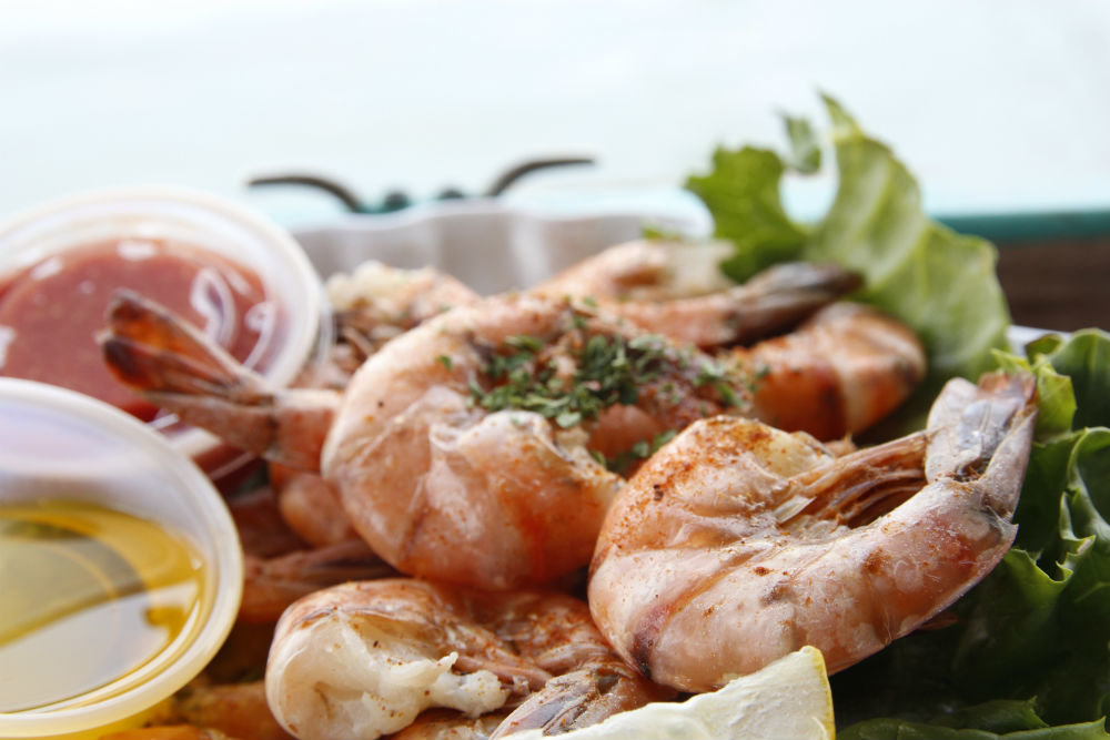 Grilled shrimps in harbour restaurant.jpg