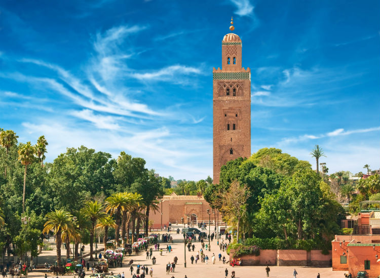 A tower in Marrakesh.