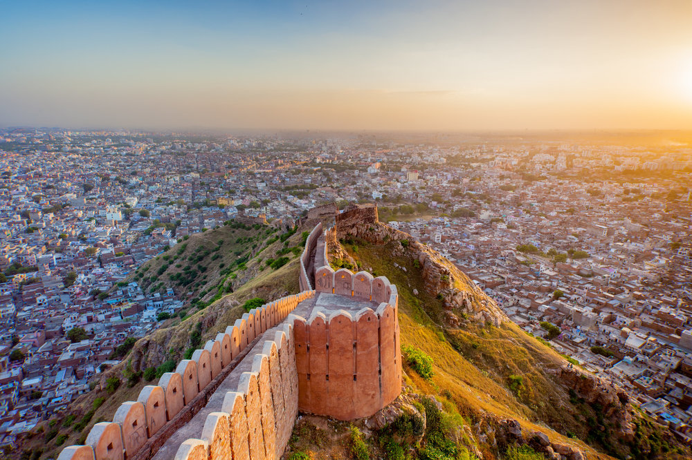 Jaipur from Nahargarh Fort at sunset.jpeg