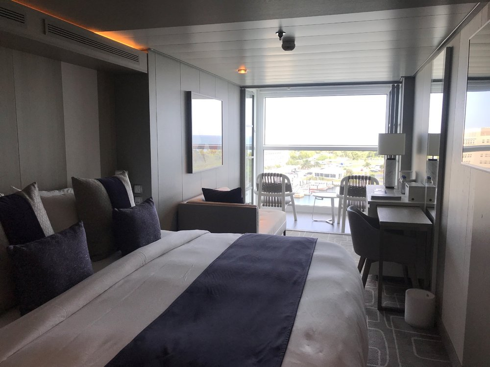 A room on-board the Celebrity EDGE with an Infinity Garden.