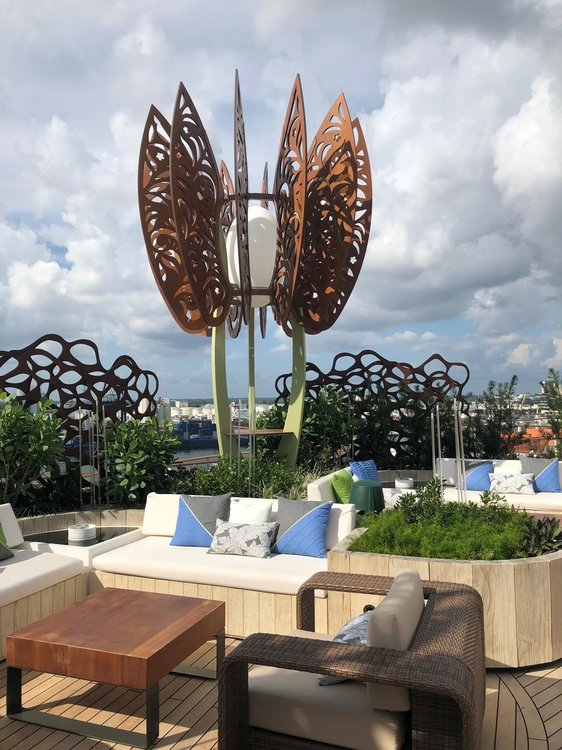 The rooftop garden, Eden, on-board the Celebrity EDGE