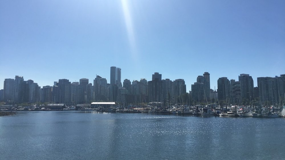 The Vancouver skyline during the day
