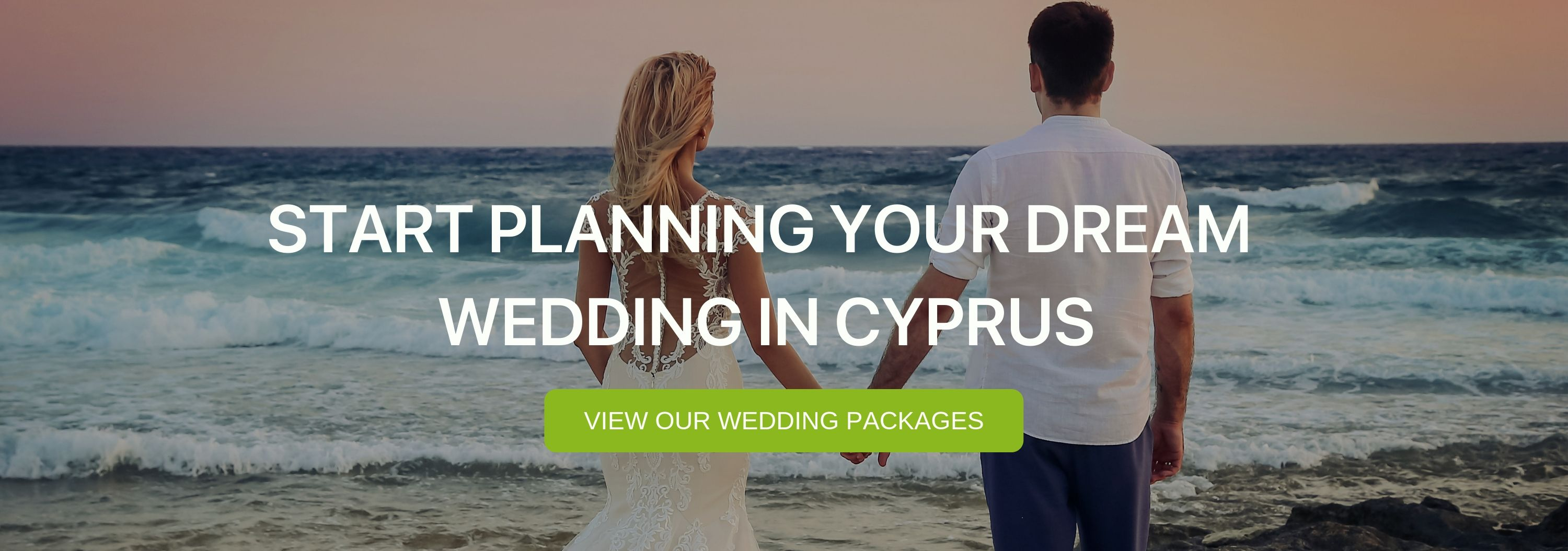 """A banner that says """"Start planning your dream wedding in Cyprus"""""""