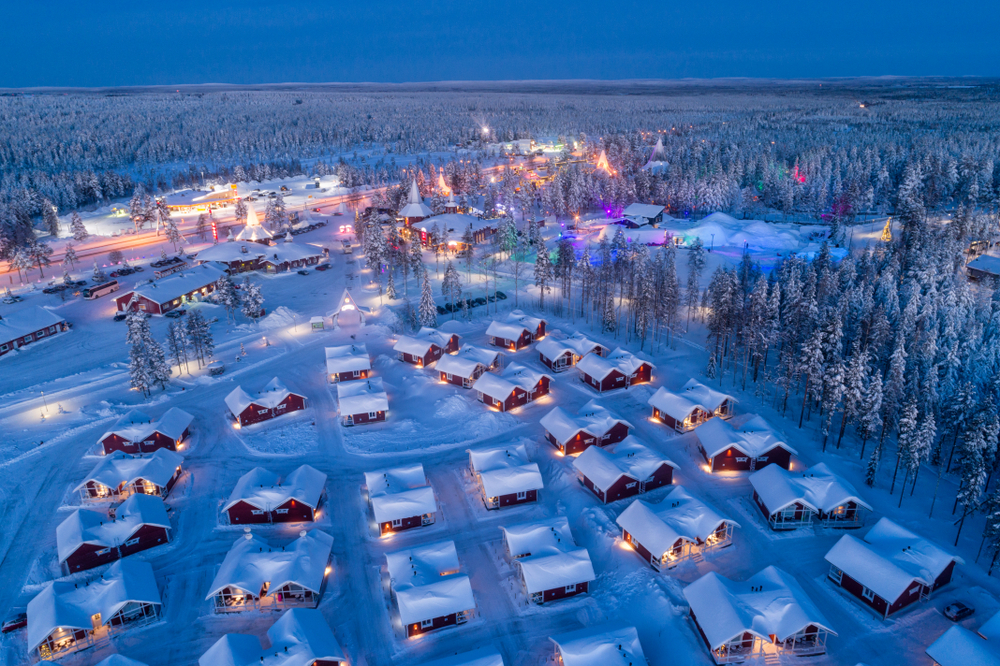 Lapland in Finland at night