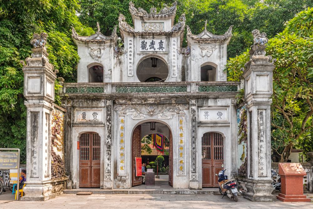 The exterior of the Quan Su Temple in Hanoi.