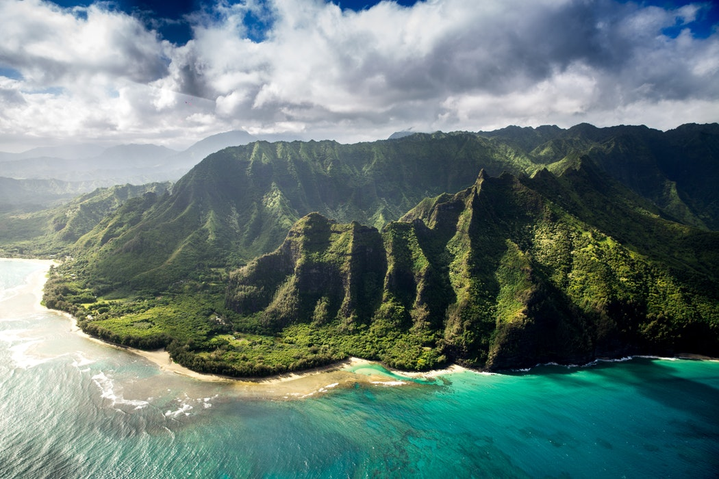 The rugged Hawaii coastline