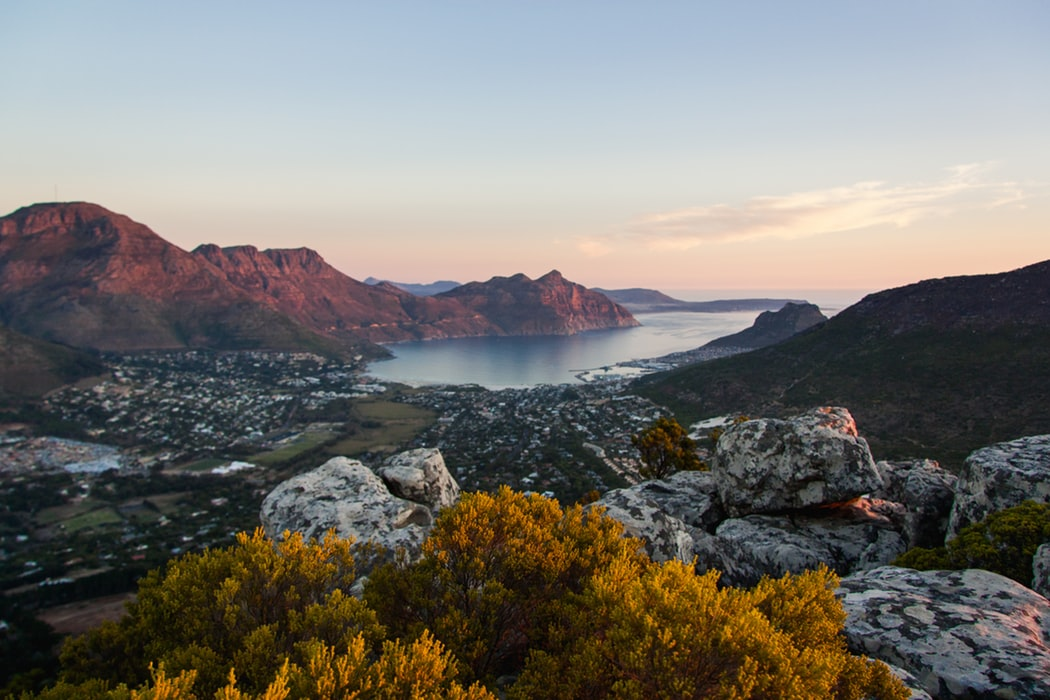Cape Town from Table Mountain at sunset